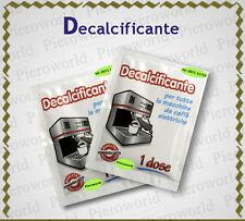 DECALCIFICATORE PULIZIA MACCHINE CAFFE' DECALCIFICANTE ILLY NESPRESSO DE LONGHI