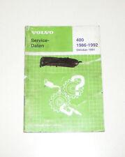 Service Daten Volvo 440  / 460 / 480 - Baujahre 1986 bis 1992!