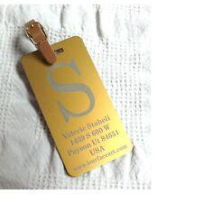 1 CUSTOM ENGRAVED Heavyduty Anodized Luggage Tag  GOLD