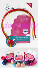 2 GOODY OUCHLESS FLEX HEAD BAND HAIR ACCESSORY AND 6 HAIR BOBBLES #2037