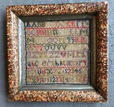 Antique 19Th Century English Sampler Abc'S 123'S February 1867