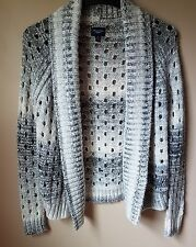 American Eagle Outfitters Womens Cardigan Sweatee Silver Grey Chunky Size Small