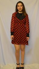 Gothic Vintage Halloween Black and Red Womens Dress