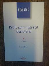 Droit administratif des biens / Gustave Peiser / mémentos