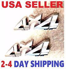 X2 Chrome 4 X 4 EMBLEM 4X4 CHEVROLET TRUCK badge SUV ornament logo sign DECAL e