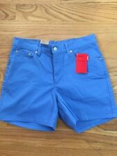 New Levis 555 Size 8 R Shorts Red Tab Guys Fit Stretch Blue NWT