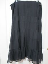 Katies size 18  black tiered skirt