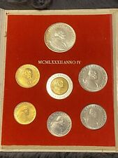 More details for 1982 anno iv vatican coin set - including 14.6g silver 1000 lira
