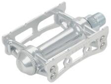 "MKS Sylvan Track Pedals: 9/16""Toe Clip Compatible Alloy Silver"