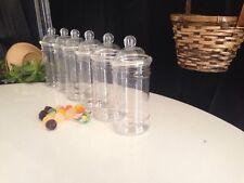 10 X 500ML Plastic Victorian/Retro Empty Sweet Jars