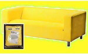 "IKEA Klippan 2 Seat Loveseat Sofa Vissle""Crayola""Yellow COVER ONLY NEW Washable"