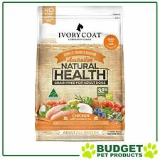 Ivory Coat Natural Health Grain Free Adult Chicken And Coconut Oil For Dogs 13kg