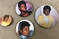 Vintage 80's Michael Jackson Concert Pin Button Pinback Badge Lot D6