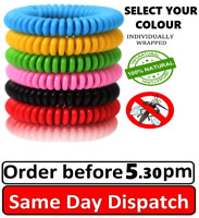 Mosquito Repellent Bracelets 1-25 Pack All Natural  Deet Free & Waterproof Bands