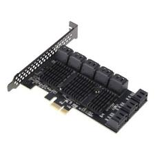 PCIE to SATA III Controller Expansion Card 16-Port PCIE 1X to SATA 3.0 Adapter
