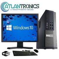 """Dell Optiplex Desktop Computer PC Core i3 3.1GHz 4GB 250GB WiN 10 Pro 20""""wifi"""