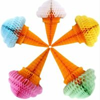 Ice Cream Tissue Paper Honeycomb Balls Lanterns Poms Wedding Party Home Decors