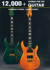 12,000+ Chords for Guitar Book, Standard & Barre Charts Ships Worldwide