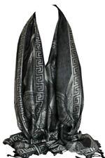 Châles/écharpe noire avec des motifs Cachemire pour femme