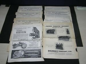 9 Page Extracts from The Timber Trades Journal & Saw Mill Advertiser 1936 - 1941