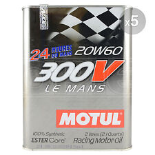 Motul 300V Le Mans 20W-60 Racing Engine Oil - 5 x 2 Litres 5L