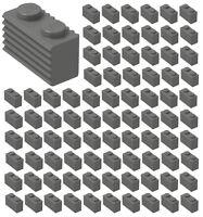 ☀️100x NEW LEGO 1x2 DARK BLUISH GRAY GRILLE Bricks (ID 2877) BULK Parts Building