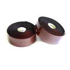 VELO Wrap Mountain MTB Road Bike Handlebar Bar Tape & Plugs - Holes + Brown