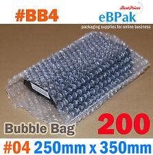 Bubble Pouch BAG : 200pcs #04 250x350mm Clear Bubble Wrap Bags #BB4