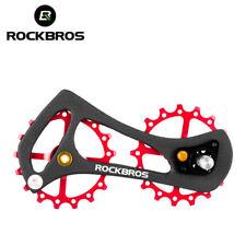 RockBros Full Carbon Fiber Rear Derailleur Bike Bicycle Pulley Wheel Red