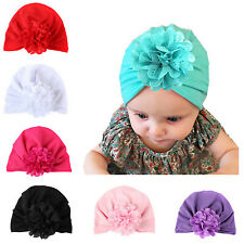 Toddler Baby Girl Turban Flower Head Wrap Summer Elastic India Hat Cotton Caps