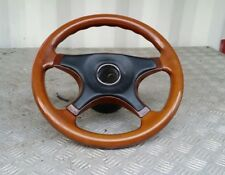 MERCEDES W124 300E WOODEN STEERING WHEEL WITHOUT AIRBAG