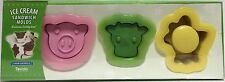 Tovolo Farm Animals Ice Cream Sandwich Molds Cookie Cutters Pig Cow Chicken NEW