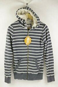 VINTAGE MOUNTAIN CLIMBER Womens FAT FACE Hoodie SHERPA Zipper SLIM Size 8 P1