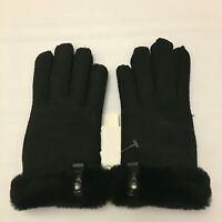 UGG Australia Sheepskin & Dyed Shearling Women's Tenney Gloves Black, M