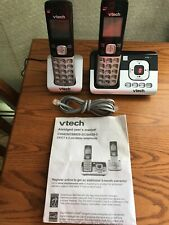Vtech 2 handset Cs6829-2 Dect 6.0 Cordless Phone and Digital Answering System