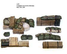 WWII 1/35 accessories sherman estiba 8 piezas logs wood stowage resina