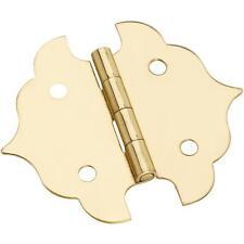 "25 Pk Solid Brass 1 1/8"" W X 1 1/8"" H Jewelry Box Chest Hinge 2/Pk N211813"