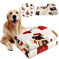 Large Pet Dog Cat Bed Puppy Cushion Soft Kennel Pad Mat Fleece Blanket Washable