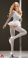 ACPLAY Sexy Female Pipe Dancers Tutu Suit White 1/6 Fit for Kumik Phicen body
