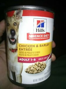 Hill's Science Diet Canned Wet Adult Dog Food Chicken & Barley 13oz 12 Cans
