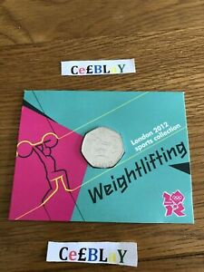 WEIGHTLIFTING 2011 OLYMPIC SPORT COLLECTION BU 50p COIN MINT BUNC SEALED IN CARD