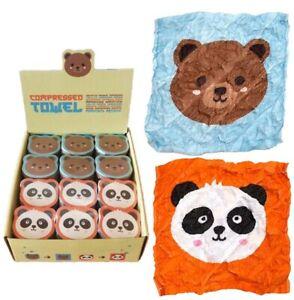 Teddy Bear Panda Animal Magic Expanding Face Cloth Flannel Travel Kids birthday