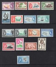 Solomon Islands 1956-60 Complete QEII Set -OG MNH & MLH- SC# 89-105 Cats $110.45