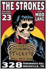 "MX04965 The Strokes - American Julian Casablancas Indie Rock 14""x21"" Poster"