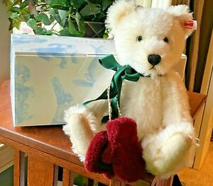 """STEIFF (with ear button) """"Teddy Bear Mittens"""", No. 220, Certificate & Box, LE"""