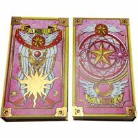 Anime Card Captor Sakura Cards With Pink Clow Magic Book Set Gift 56pcs