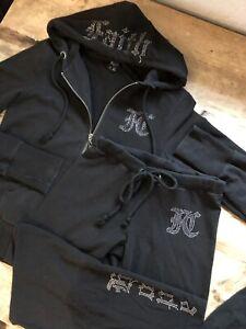 Work Out Black Gold Silver 2PC Pant /& Jacket Jogging Track Suit Size Medium 8 10