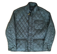 NWT POLO RALPH LAUREN Men's Grey Big & Tall Diamond Quilted Coat Jacket Sz 3XB