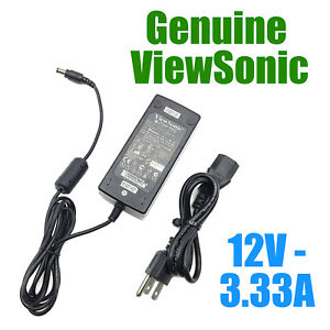 OEM ViewSonic LSE0107A1240 12V 3.33A 40W AC Adapter w/PC