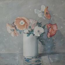 Still life with Poppies Aft Molly Littlehale Murphy OS Lithograph c1980s